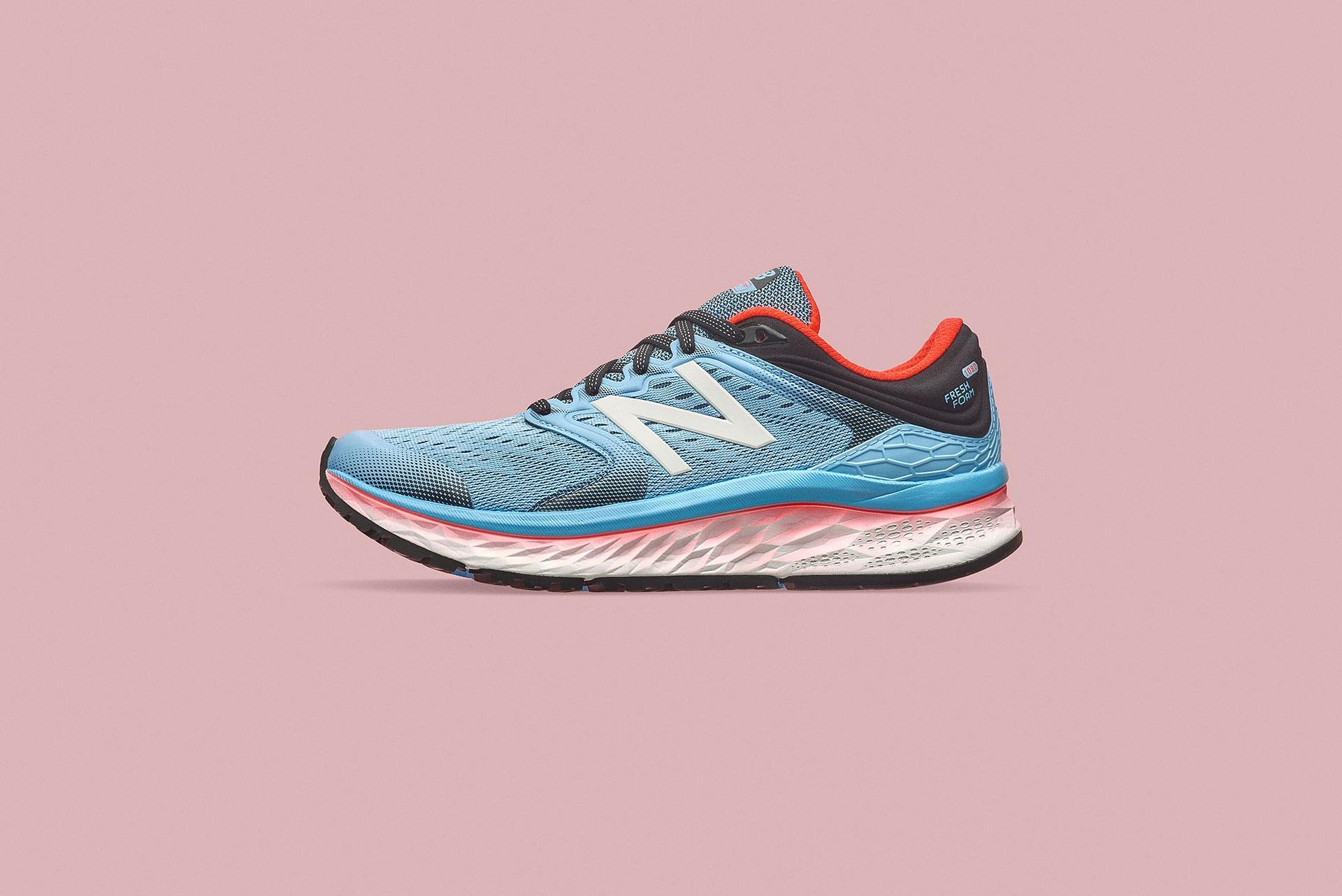women's new balance running shoe photographed using elinchrom bx500ri lighting