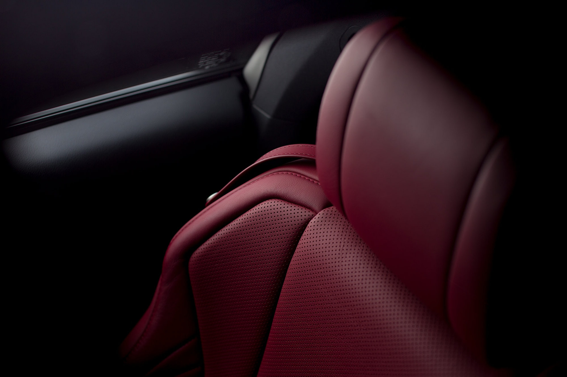 lexus RC F350 sports car with red leather interior photographed by Smith and daniels