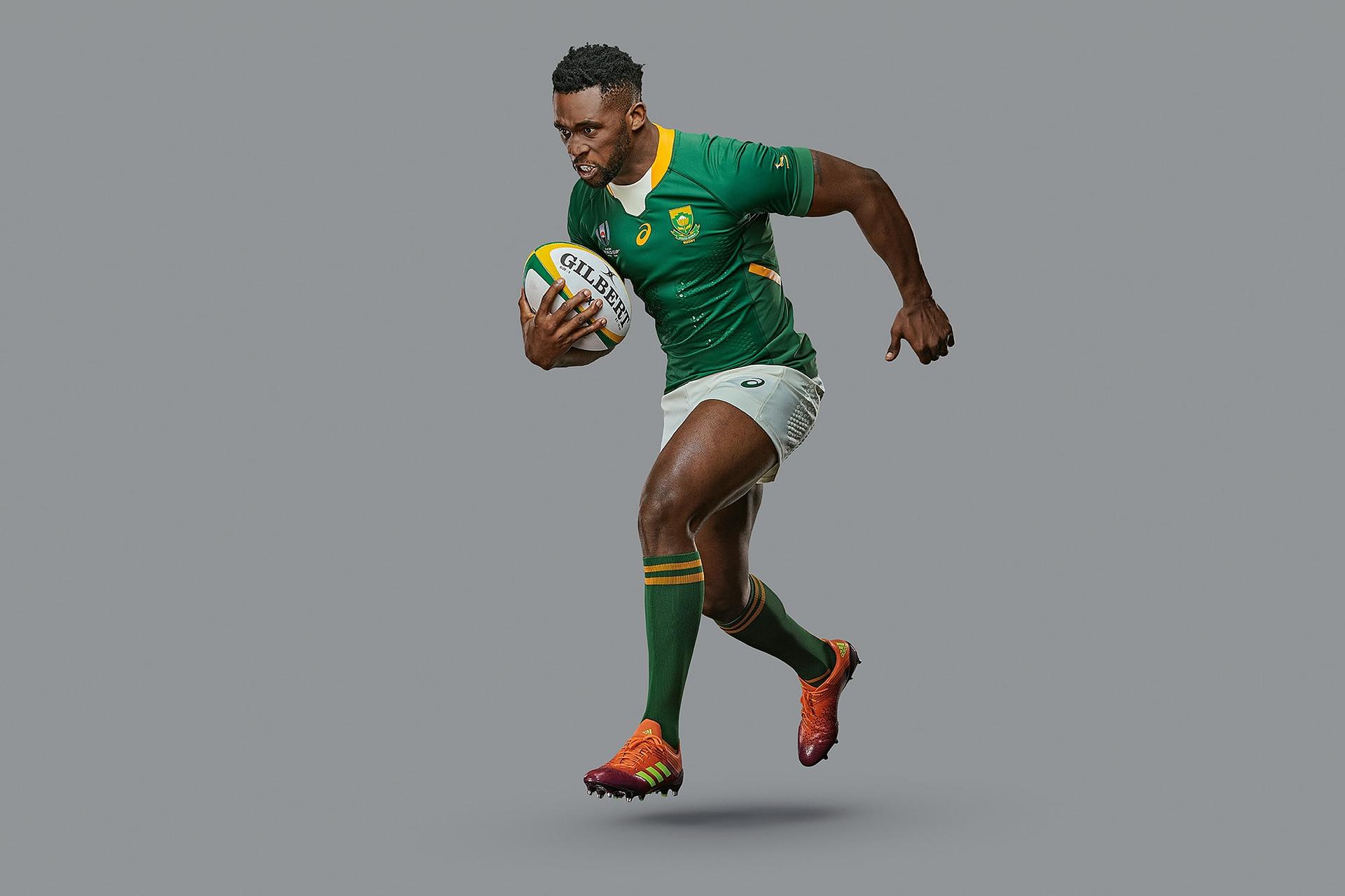 asics rugby print campaign of south african captain siya kolisi