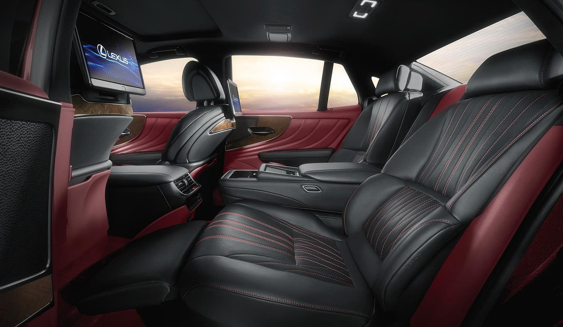 studio photography of the new lexus ls 500 interior photographed for m&c saatchi and abel by Smith and Daniels