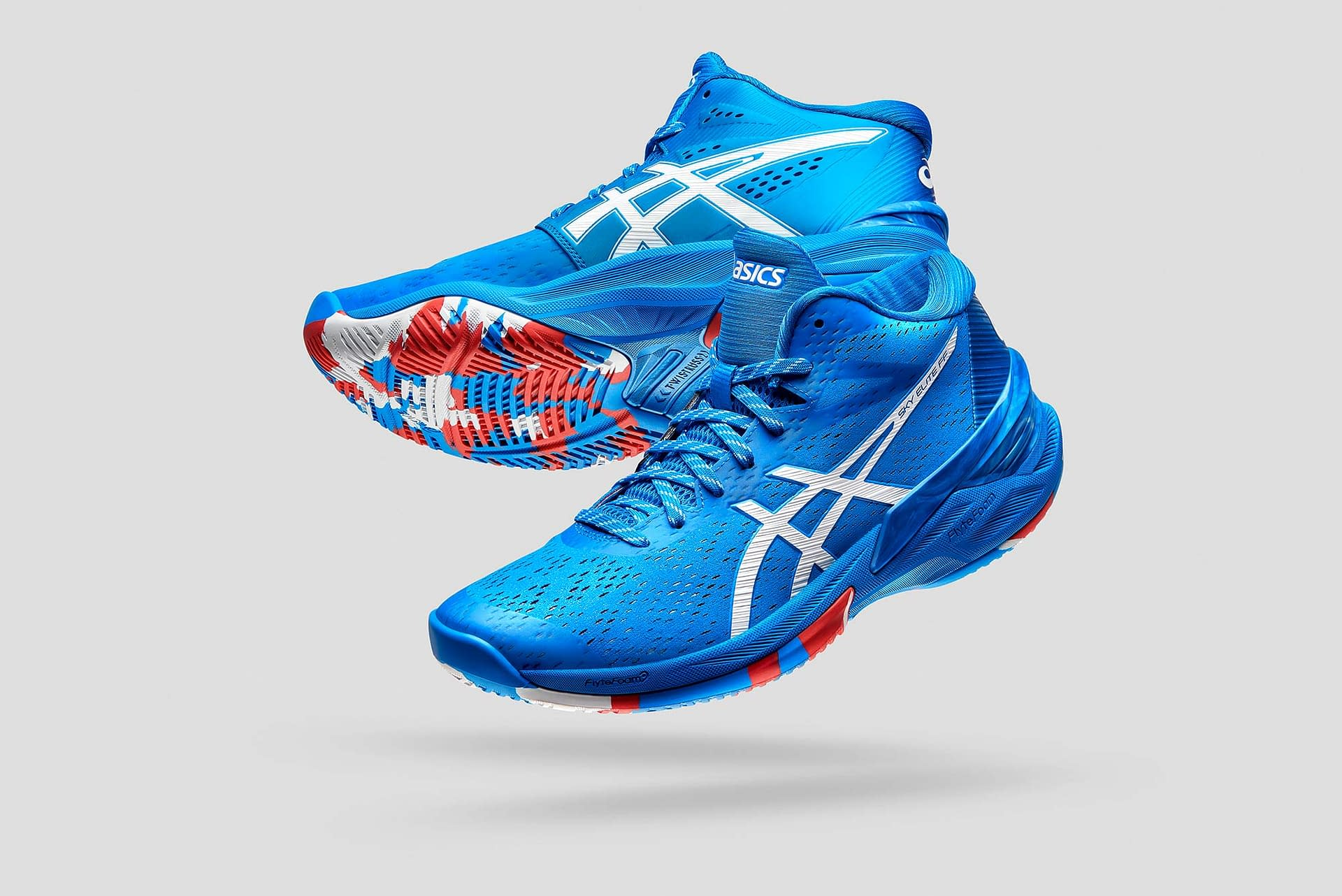product photography; asics volleyball shoe 2020 commercial campaign