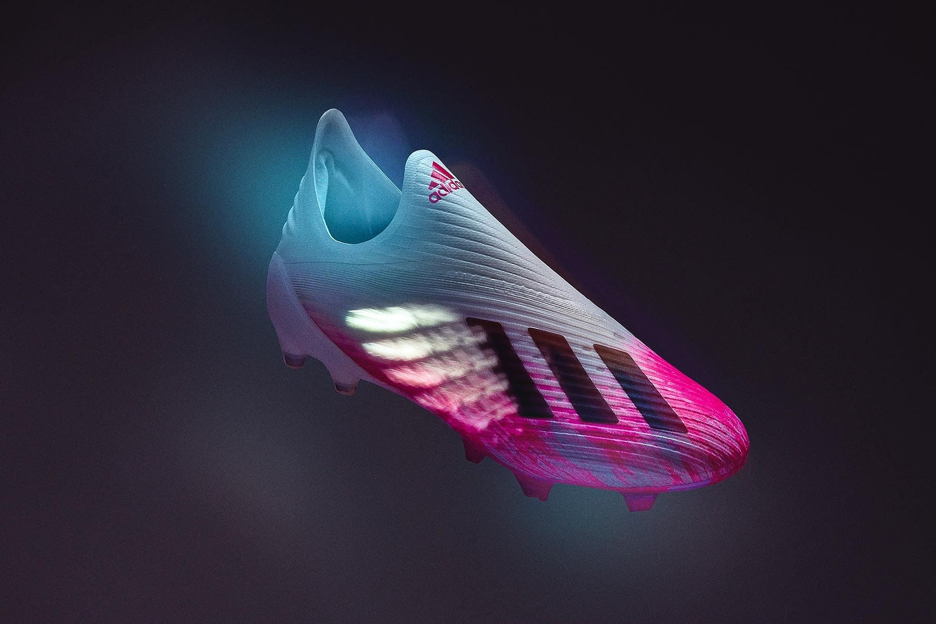 creative stills imagery of the new adidas x19 football boot photographed in studio using tether tools cables