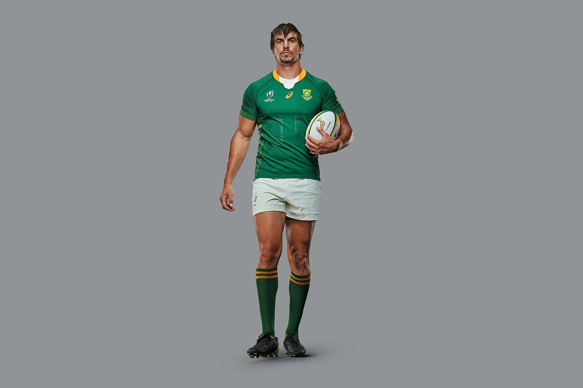world cup rugby champion eben etzebeth image taken in studio for new asics print campaign